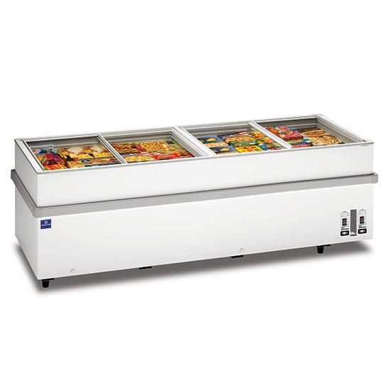 Supermarkt-Tiefkühltruhe mit Glas-Schiebedeckeln, -18°/-25°C, 1032 Liter