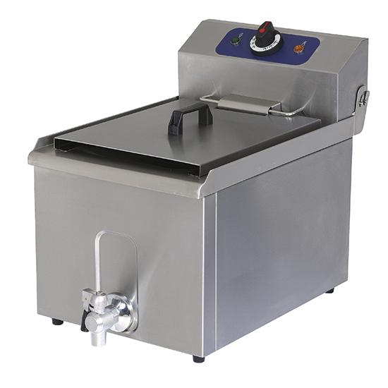 Freidora eléctrica de sobremesa con grifo de descarga, capacidad de aceite 8 litros