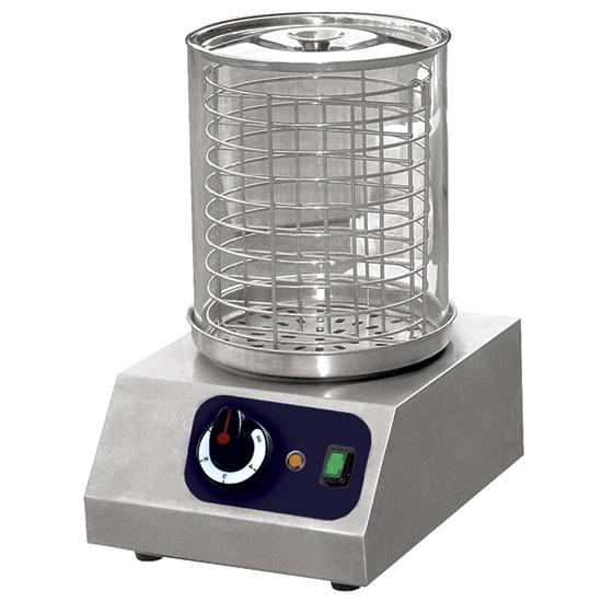 calentador de salchichas con contenedor en pyrex, capacidad 40 salchichas