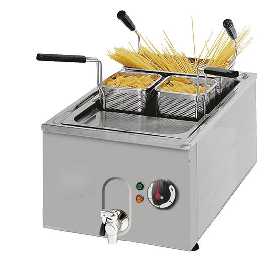 cuece pasta eléctrico de sobremesa con grifo de descarga, 23 litros