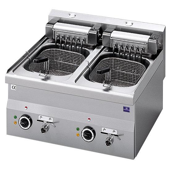Elektro-Fritteuse, Tischmodell, 10+10 Liter - 18 kW
