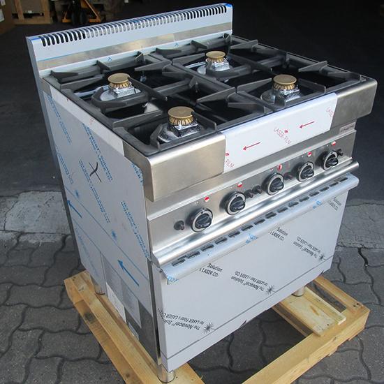 Gasherd, 4 Brenner, 1 Gasofen - SHOW ROOM
