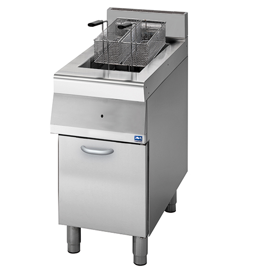 gas fryer on closed cabinet, 13 litres