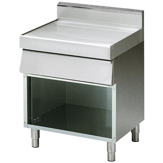 elemento neutro con cassetto su base aperta