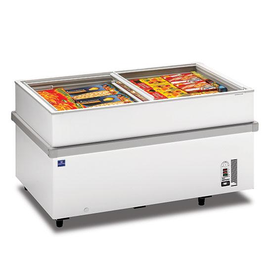 Supermarkt-Tiefkühltruhe mit Glas-Schiebedeckeln, -18°/-25°C, 597 Liter