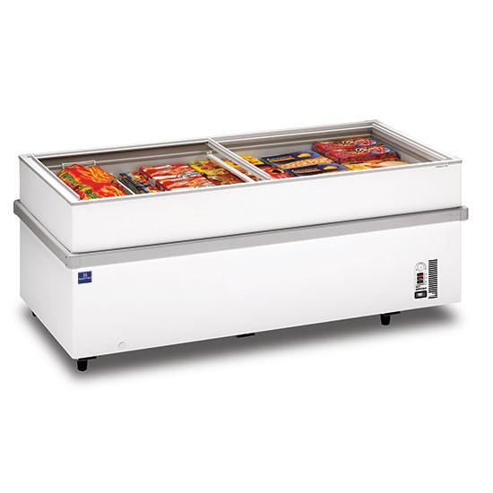 Supermarkt-Tiefkühltruhe mit Glas-Schiebedeckeln, -18°/-25°C, 839 Liter