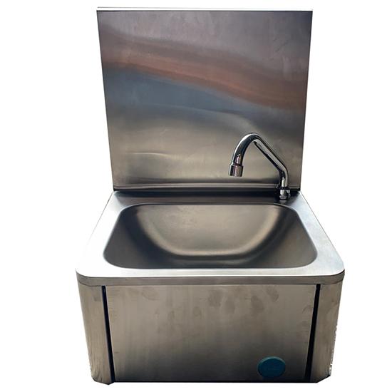 Handwaschbecken mit Kniebedienung und Seifenspender- - BESCHÄDIGT