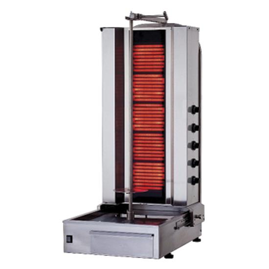 asador de kebab eléctrico con 5 resistencias, 60-80 kg