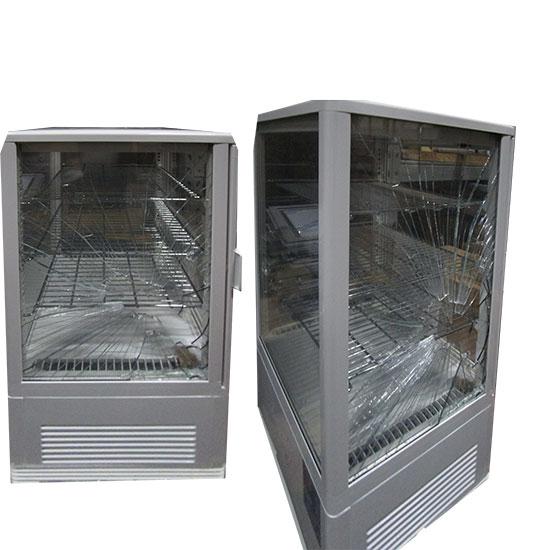 Getränkekühlvitrine mit 3 Böden, Tischmodell, 68 Liter, 0°/+12°C, Farbe weiß - DEFEKT