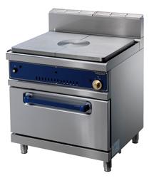 cocina pl incandescente, gas, horno gas GN2/1