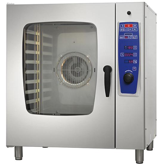 horno mixto eléctrico a vapor directo, 10x GN 1/1