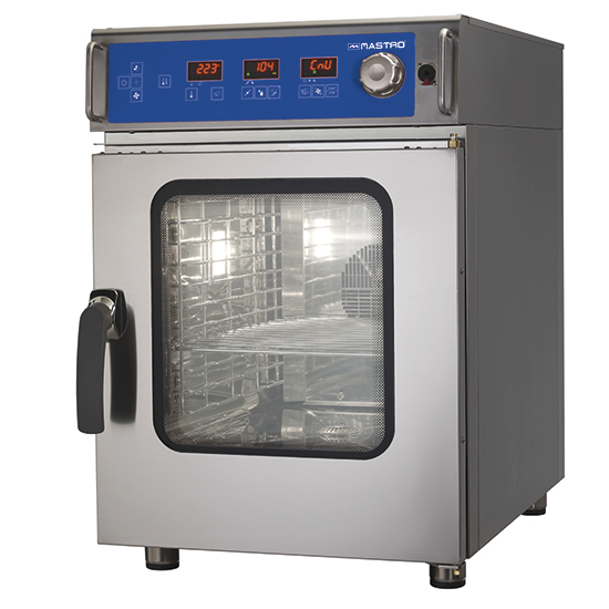Elektro-Konvektionsofen 6 GN 1/1 mit Befeuchter, elektronischer Steuerung, automatischer Reinigung