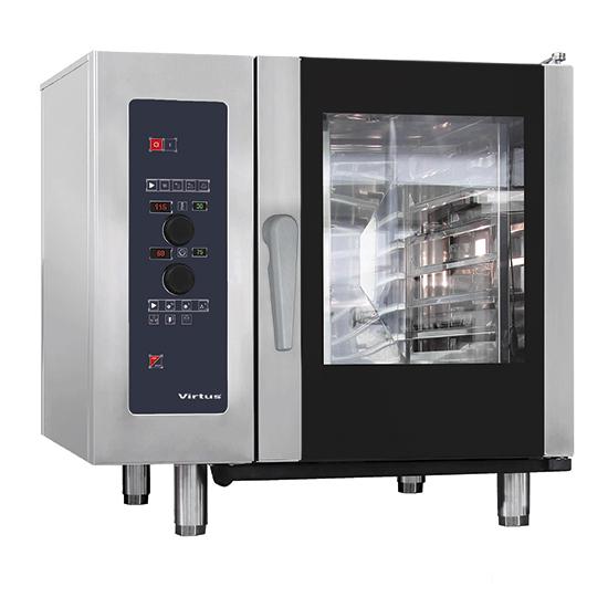 horno convección eléctrico con vapor directo y sistema de lavado automático, 6x GN 1/1