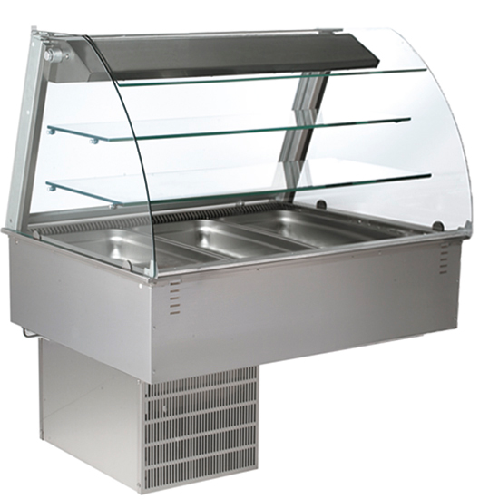 drop-in closed refrigerated ventilated display, 3x GN 1/1