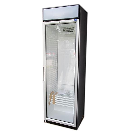 Getränkekühlvitrine 379 Liter mit Glastür, 5 Roste, +1°/+10°C - BESCHÄDIGT