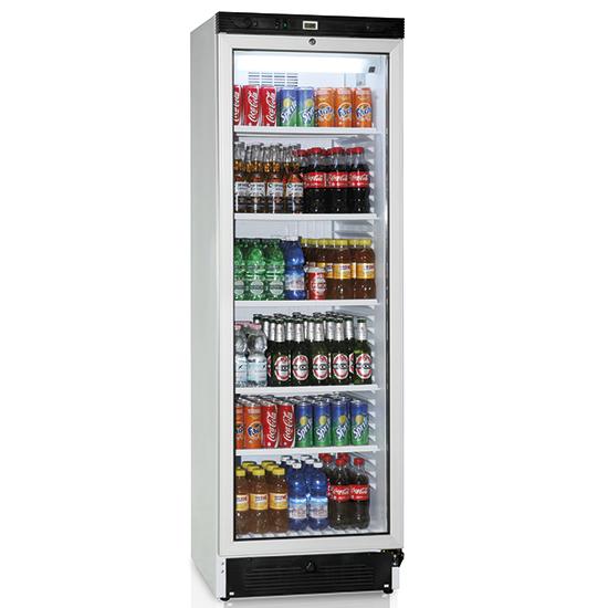 Vitrina refrigerada vertical 379 litros con puerta en vidrio y 5 estantería, +1°/+10°C