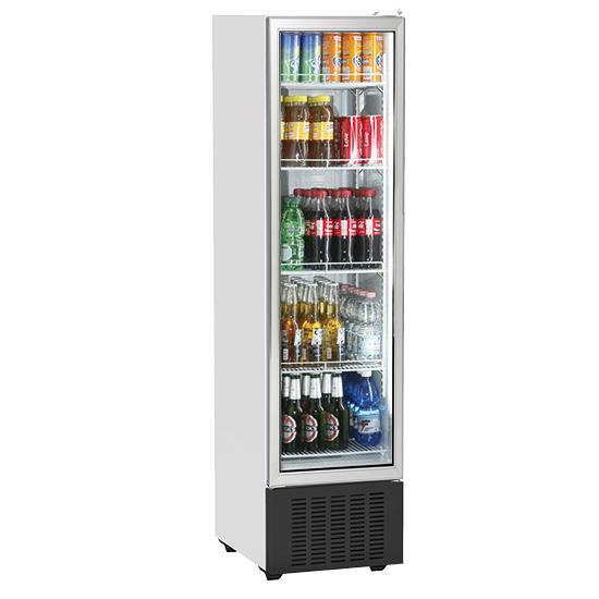 Vitrina refrigerada vertical 246 litros con puerta en vidrio y 5 estantería, +1°/+10°C