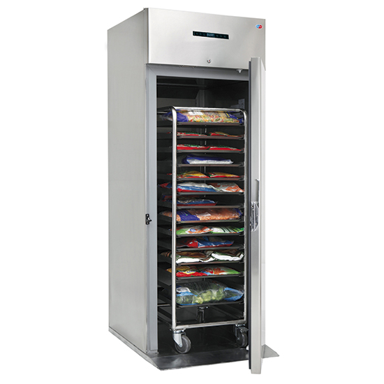 Kühlschrank Roll-In 700 Liter aus Edelstahl, GN 2/1, -2°/+8°C