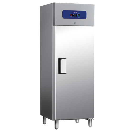 Kühlschrank 400 Liter aus Edelstahl, 460x485 mm, -2°/+8°C