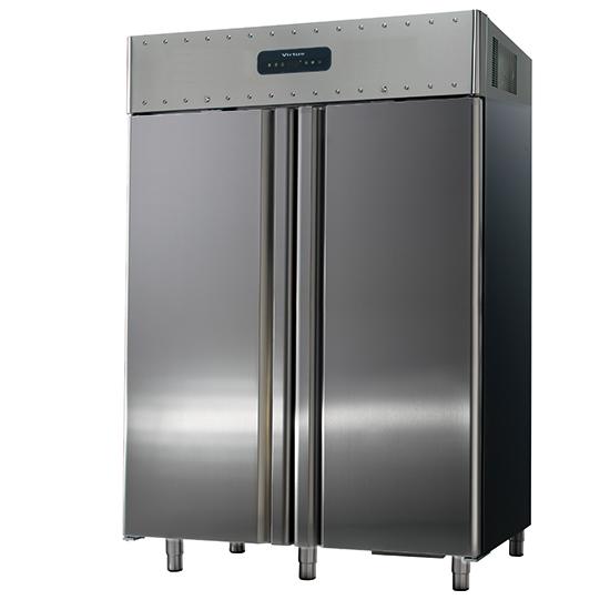 Tiefkühlschrank 1400 Liter aus Edelstahl, GN 2/1, -10°/-30°C, 85 mm Isolierung