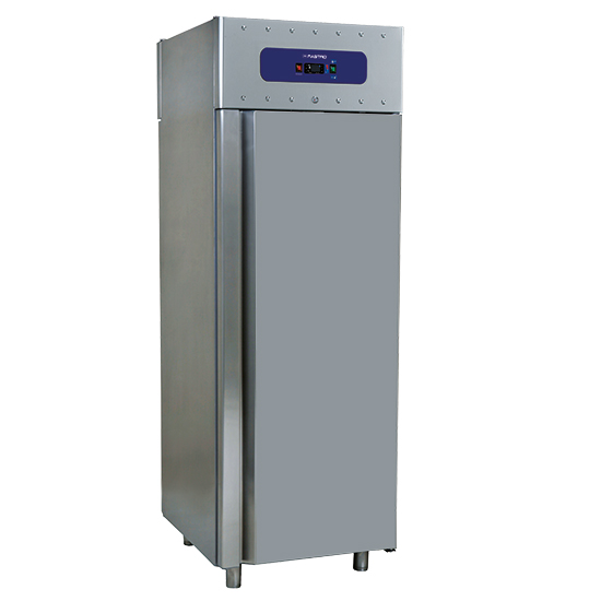refrigerador 700 litros en inox, GN 2/1, -2°/+8°C, 85 mm aislamiento