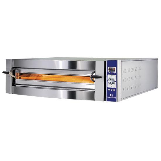 Elektro-Pizzaofen für 6 Pizzen ø 35 cm, digitale Bedienung