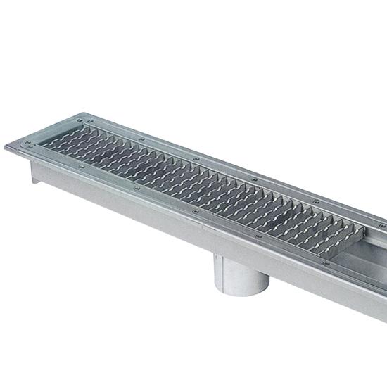 canal colector con rejilla y salida central, l=1000 mm