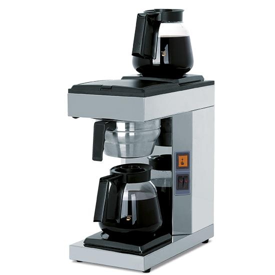 macchina da caffè a filtro manuale con 2 caraffe da 1,8 litri