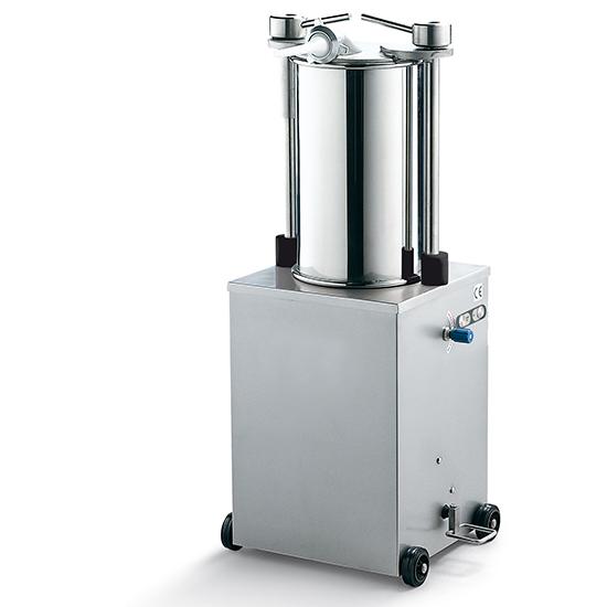 embutidora de salchichas vertical, cilindro l=460 mm, 25 litros