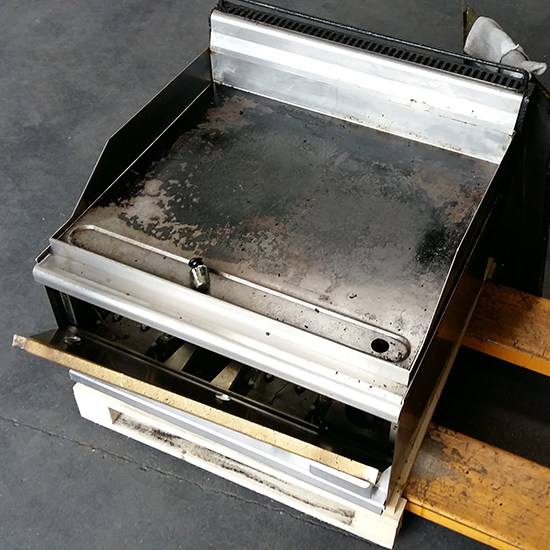 gas griddle, tabletop, smooth plate - brand LOTUS - DEFECT