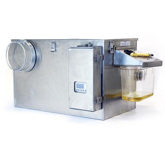Separador de grasas automático con temporizador, tasa de flujo 0,95 litros/ segundo