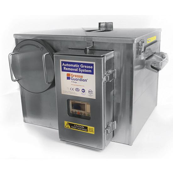 Separador de grasas automático con temporizador, tasa de flujo 0,5 litros/ segundo