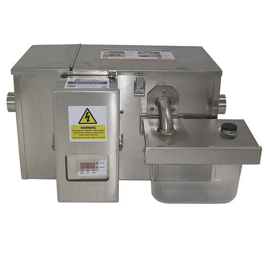 separador de grasas automático con temporizador, 12 kg/h, entrada a izquierda, salida a derecha