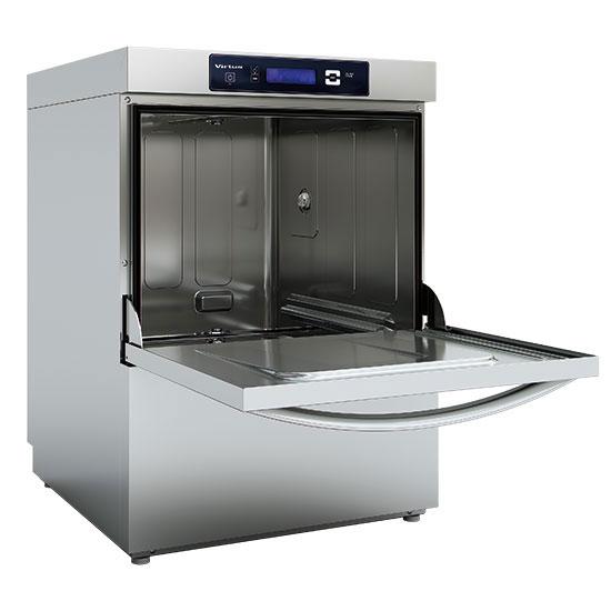 lavavajillas digital con dosificador detergente y bomba de descarga, cesta 50x50 cm, max h=38cm
