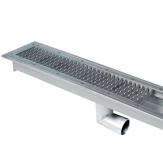 canal colector con rejilla y salida lateral, l=300 mm