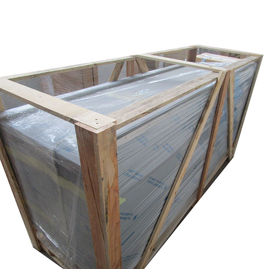 Wärmeschränk mit Schiebetüren, mit Aufkantung, 2000x700 mm - BESCHÄDIGT