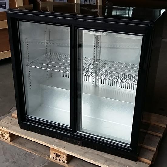 vetrina refrigerata sottobanco/2 porte vetro scorrevoli, 208 litri, +1/+10°C, 4 griglie - DIFETTOSO