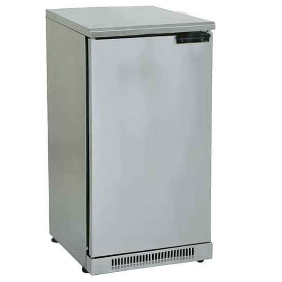 vetrina refrigerata da sottobanco in inox con 1 porta battente, 110 litri, 0 °C/+10 °C *