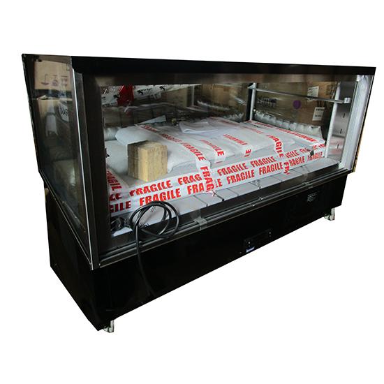 Kalte-Theke mit 2 Glasböden und Schiebetüren, +2°/+10°C - BESCHÄDIGT