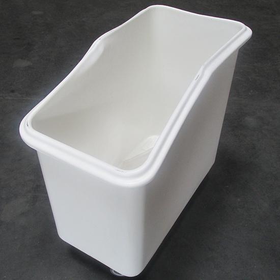roll container para alimentos sobre 4 ruedas con tapa deslizante, 102 litros - DAÑADO