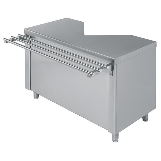 Kassenelement mit Schublade für rechts oder links, B=1400 mm