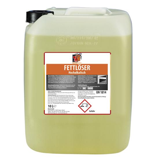 hochalkalischer Fettlöser, flüssig, 10 Liter