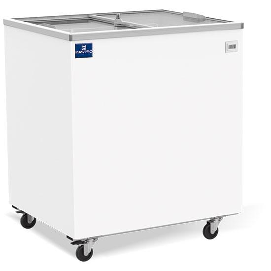 Tiefkühltruhe 208 Liter mit Glas-Schiebedeckeln, -14°/-24°C