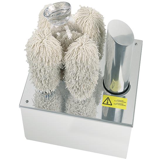 asciugabicchieri elettrico con 4 spazzole