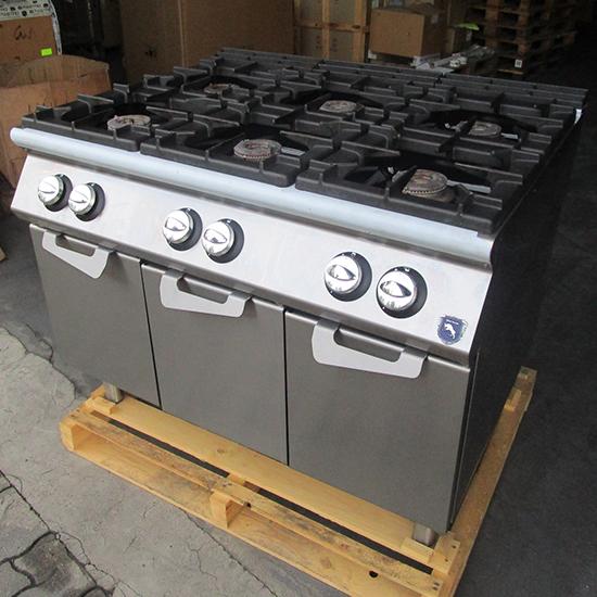 Cocina a gas sobre armario con puertas, 6 quemadores - USADA