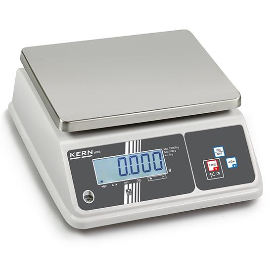 Tischwaage mit Wägeplatte in Edelstahl, Wägebereich maximal 6 kg, Ablesbarkeit 1 g