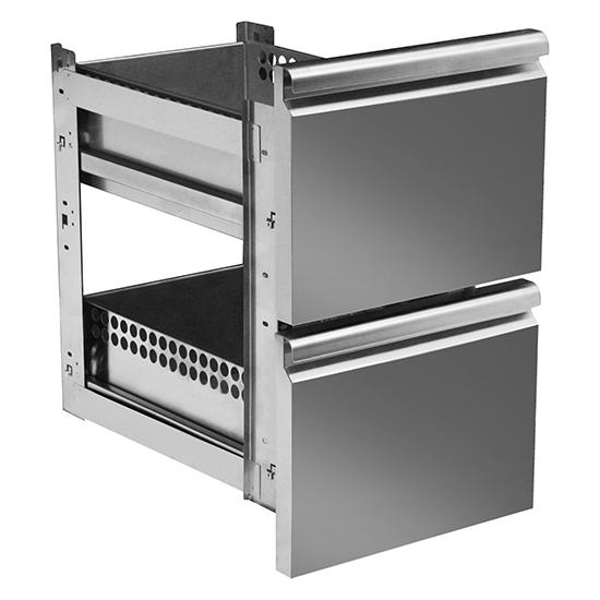 kit cajonera GN 2x 1/2 para mesas frías con profundidad 700 mm