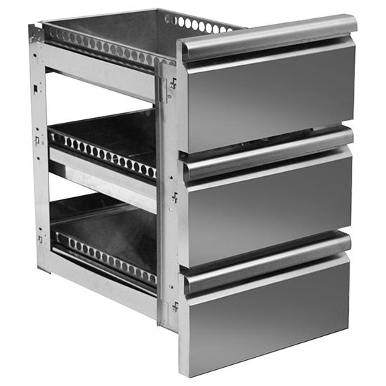 Schubladenkit GN 3x 1/3 für Kühltische mit Tiefe 700 mm