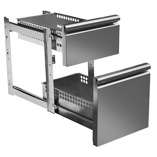 kit cajonera GN 1x 1/3 y 1x 2/3 para mesas frías con profundidad 700 mm