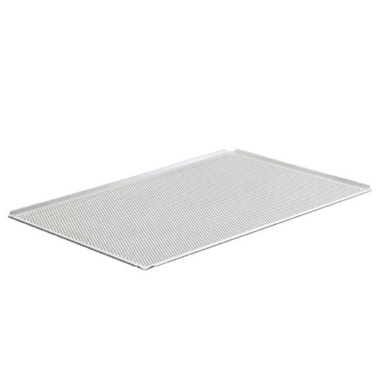 Bandeja de aluminio sin revestir, GN 1/1 - 4 lados 45°, perforada